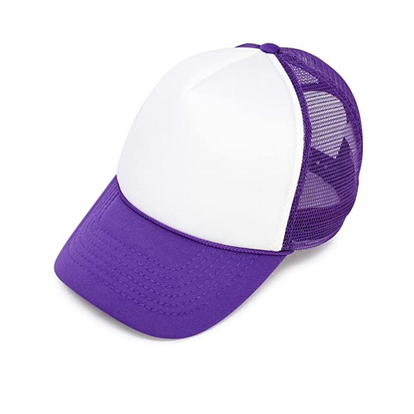 הדפסה על כובע רשת סגול