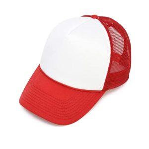 הדפסה על כובע רשת אדום