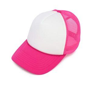 הדפסה על כובע רשת ורוד