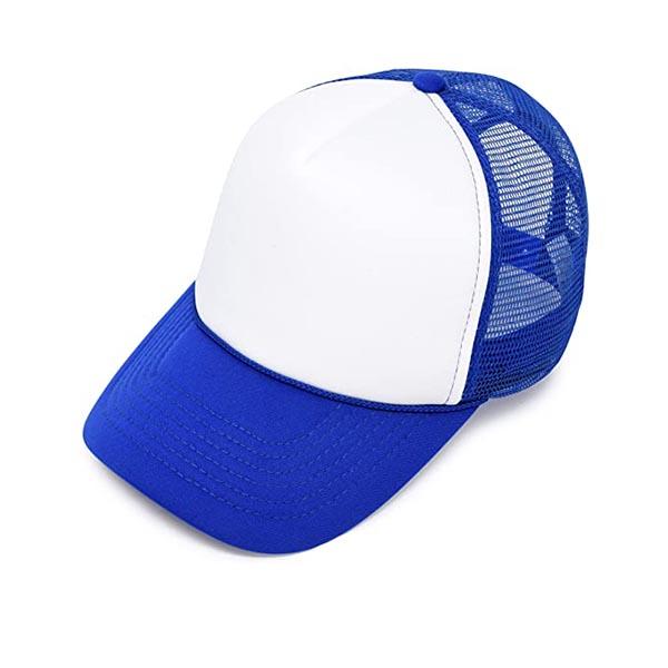 הדפסה על כובע רשת כחול